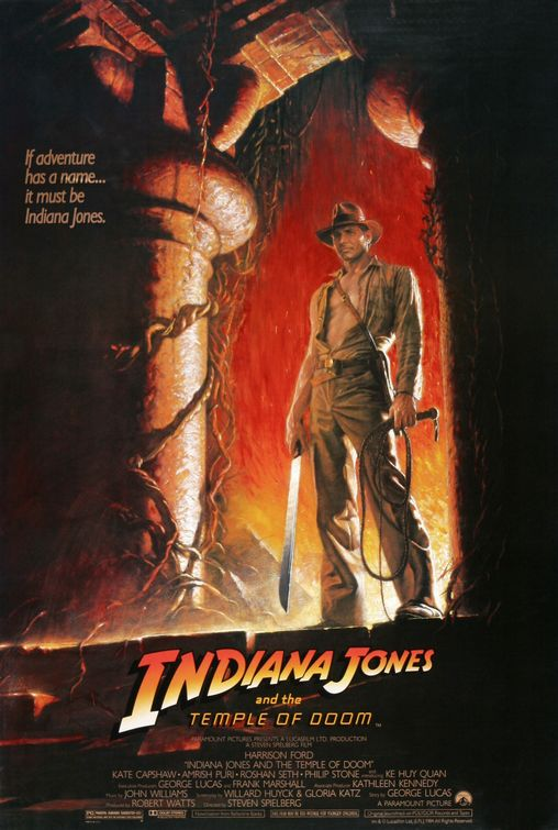 ... poster for temple of doom which might be my favourite movie poster